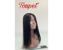 Smooth virgin color toupee