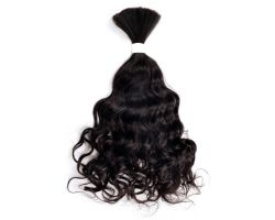 wavy hair loose - v
