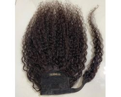 Tail with afro curly virgin color velcro