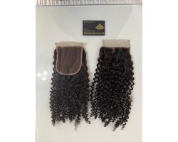 Closure afro curly virgin color