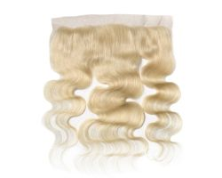 Wavy Platinum Blonde Lace Frontal