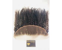 Natural curly lace frontal virgin color
