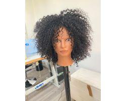 Parrucca afro colore vergine