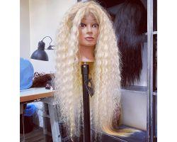 Wig bionda platino