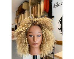 Wig curly bionda