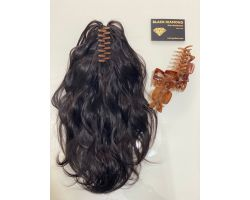 Tail with virgin color clamp wavy