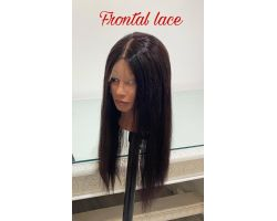 Smooth virgin color front lace