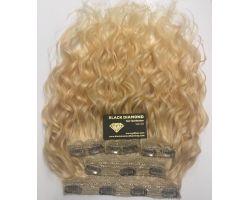 Hair Clips Platinum Blonde Wavy