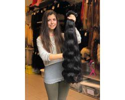 KERATIN HAIR DARK BROWN AND PLATINUM BLONDE