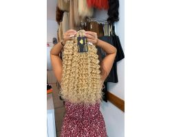 Natural Curly Blonde Hair