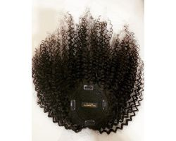 Afro curly virgin color toupee